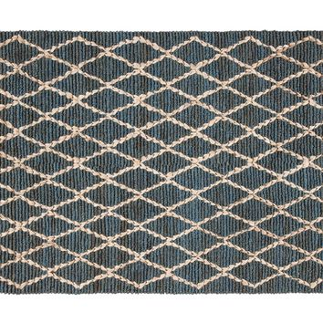 Manali Jute Area Rug DEEP BLUE