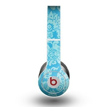 The Subtle Blue Floral Lace Pattern Skin for the Beats by Dre Original Solo-Solo HD Headphones