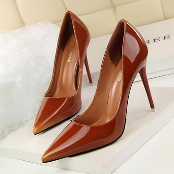 Bigtree Shoes Woman High Heels Pumps Red High Heels 12CM Women Shoes High Heels Wedding Shoes Pumps Black Nude Shoes Heels