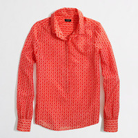 Factory printed cotton-silk classic popover