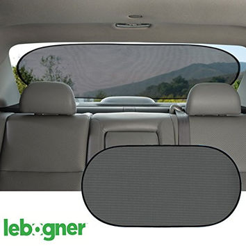 Car Cling Rear Window Sunshade By Lebogner - Premium Quality Large Baby Auto Sun Shield, Sun Protector, Blocking over 98% of Harmful UV Rays, Protects Children And Pets From The Sun's Glare