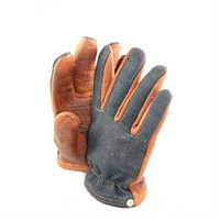 Grifter USA Bison Ranger Denim Work Gloves