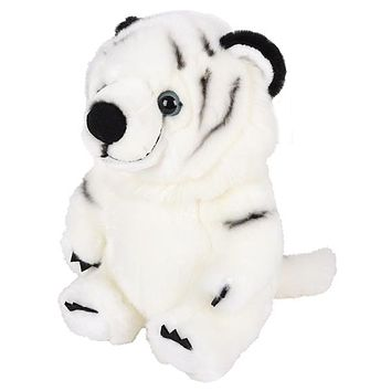 9 Inch Stuffed White Tiger Plush Belly Buddies Animal Kingdom Collection