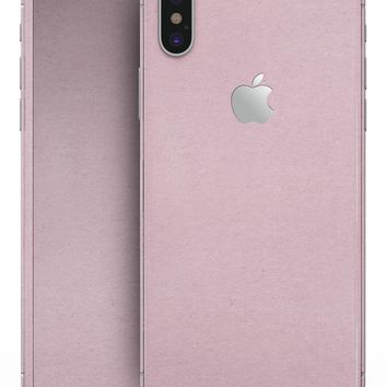 Baby Pink Solid Surface - iPhone X Skin-Kit