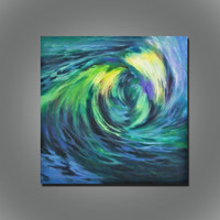 Abstract oil painting wall art home decoration for livingroom seascape custom original art scenery painting no frame