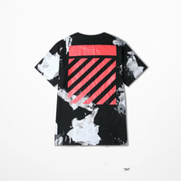 Ulzzang Retro Tide Band Tshirt Hip Hop Off White T Shirt Men Funny High Street Skateboard West Coast Top Tee Punk Tee Shirts