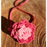 Pink Felt Flower Headband, Baby Girl Flower Headband, Felt Headband, Felt Baby Headbands, Felt Flowers, Flower Headband