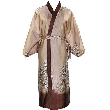 New Arrival Novelty Male Silk Long Robe Chinese Men Rayon Nightgown Kimono Bath Gown Unisex Casual Sleepwear One Size NM025