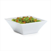 Siciliano 14 oz 5 x 2 Square Bowl White Melamine/Case of 12