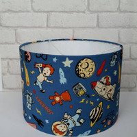 Retro Spaceboy 30cm Drum Lampshade