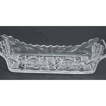 American Brilliant Period hand Cut Glass rectangle tray
