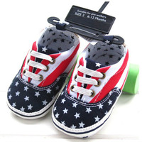 USA Flag Baby Shoes