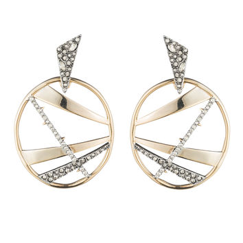 Crystal Encrusted Plaid Dangling Post Earring | Alexis Bittar