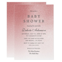Pink Baby Shower | Ombre Faux Rose Gold Glitter
