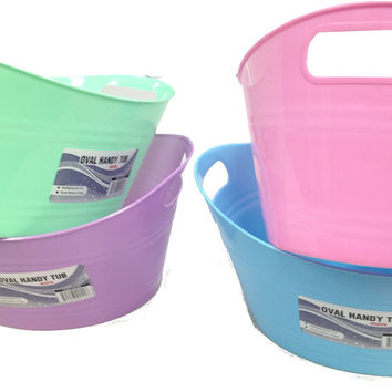 oval basket tub with double handles Case of 48