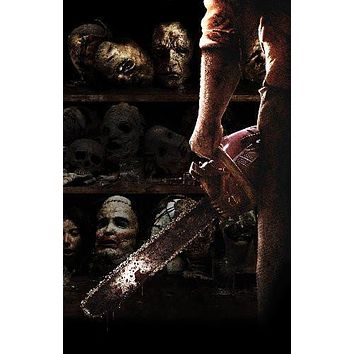 Texas Chainsaw Massacre 3D Movie poster Metal Sign Wall Art 8in x 12in