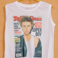 Justin Bieber Rolling Cover Album Pop Indie Punk Tattoo Vintage Lady Women Fashion T shirt Muscle Crop Tank Top Size S M L