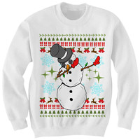 UGLY CHRISTMAS SWEATER DABBIN SNOWMAN SWEATER FUNNY CHRISTMAS SWEATERS CHEAP GIFTS CHEAP SWEATERS LADIES MENS TOPS TEES #DAB CHRISTMAS GIFTS from CELEBRITY COTTON