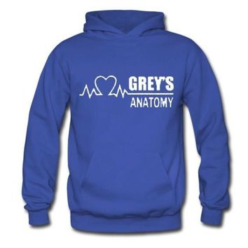 Cotton Winter Autumn GREY'S ANATOMY Hoody Fashion GREY Hoodies Pullover