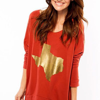 Gold Texas Raw Edge Sweater – Southward Apparel