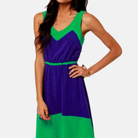 Lucy Love Estelle Blue and Green Dress