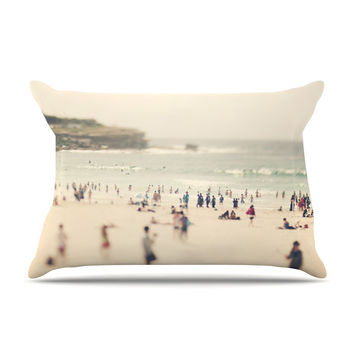 "Catherine McDonald ""Bondi Beach"" Coastal People Pillow Case"