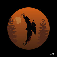 Red Kite (Forest) Art Print by Andrew Formosa | Society6