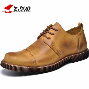 NEW Spring british oxfords men genuine leather Shoes casual shoes men leather