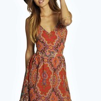 Chantelle Open Back Printed Dress