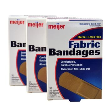 Free Shipping 90 Pcs/3Boxes 1.9cmX7.6cm Comfortable Adhesive Wound Bandages Family Emergency kit First aid Hemostasis Band aid