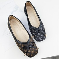 LV GUCCI Louis Vuitton Spring Summer New Popular Women Comfortable Flat Single Sandals Shoes(6-Style) I12303-1