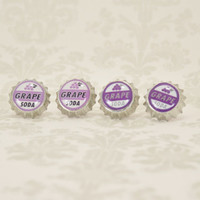 Disney Pixar's Up Grape Soda Bottle Cap Stud/Clip On Earrings