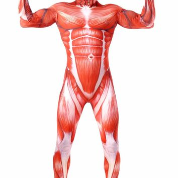 Cool Attack on Titan Breathable  Cosplay Costume Zentai Suit Muscle Men's Full Body Spandex Lycra Suit One Piece Spandex Catsuits AT_90_11