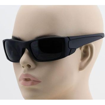 """Fuel Cell Sunglasses"" BLACK mens womens sports frame wrap around glasses locs"