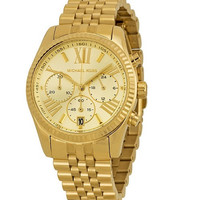 Michael Kors Gold Lexington Chronograph Watch for Women MK5556