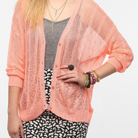 Sparkle & Fade Oversized Cable Mesh Cardigan