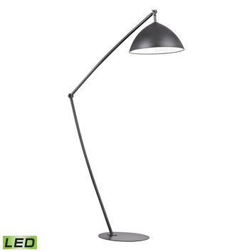D2461-LED Industrial Elements Adjustable LED Floor Lamp in Matte Black