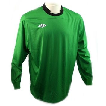 Umbro Men's Long Sleeve Polyester Football Soccer Jersey Shirt Sz L