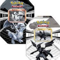 Pokemon Black White Card Game Set of Both Legends Tins Zekrom Reshiram