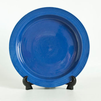 1930s Vintage ORIGINAL Cobalt Blue Fiesta Ware Relish Tray Base ONLY, Fiestaware Replacement Piece Serving Tray, Early Version