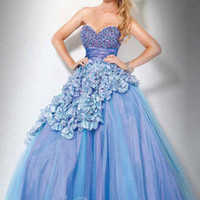 Empire Sweetheart Organza Ball Gown Military Ball Dresses / Prom Party [10108767] - US$191.99 : DressKindom