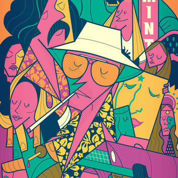 Fear and Loathing Art Print by Ale Giorgini