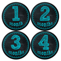 Baby Boy Monthly Milestone Stickers Style #145