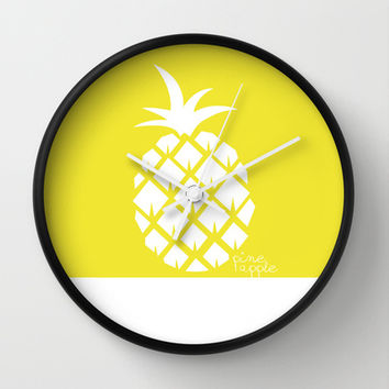 Pineapple V.4 Wall Clock by C Designz