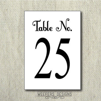 TABLE NUMBERS (1-30) - Instant Download - PRINTABLE  pdf / diy Table Numbers (tn0001)