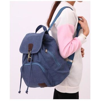 STYLEDOME Canvas Women's Backpac Canvas School Bags for Teenage Girls Women Bag Outdoor Travel Backpacks mochila mujer