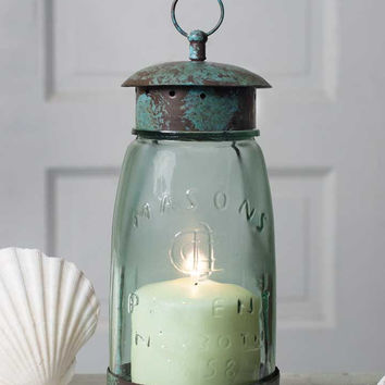 Mason Jar Lantern from CrookedWood