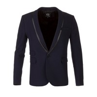 McQ by Alexander McQueen Navy Tuxedo Jacket - Suits & Fitted Jackets