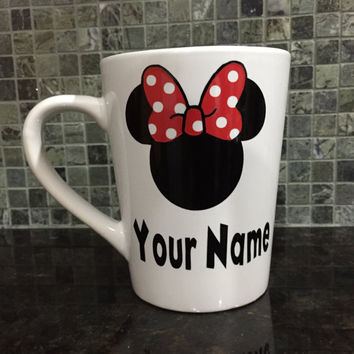 Minnie Mug, Minnie Name Mug, Disney Name Mug, Minnie Mouse Mug, Personalized Mug, Minnie Mouse Mug, Disney Fan Gift, Mickey Minnie Mug