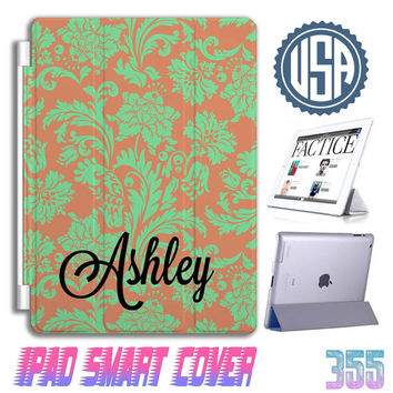 Floral name custom IPad Mini Cover , IPad Air Smart Cover , IPad 4 Case IPad 3 IPhone 5  5S 5C 4S Samsung galaxy note 3 S5 S4 Case Gift 355